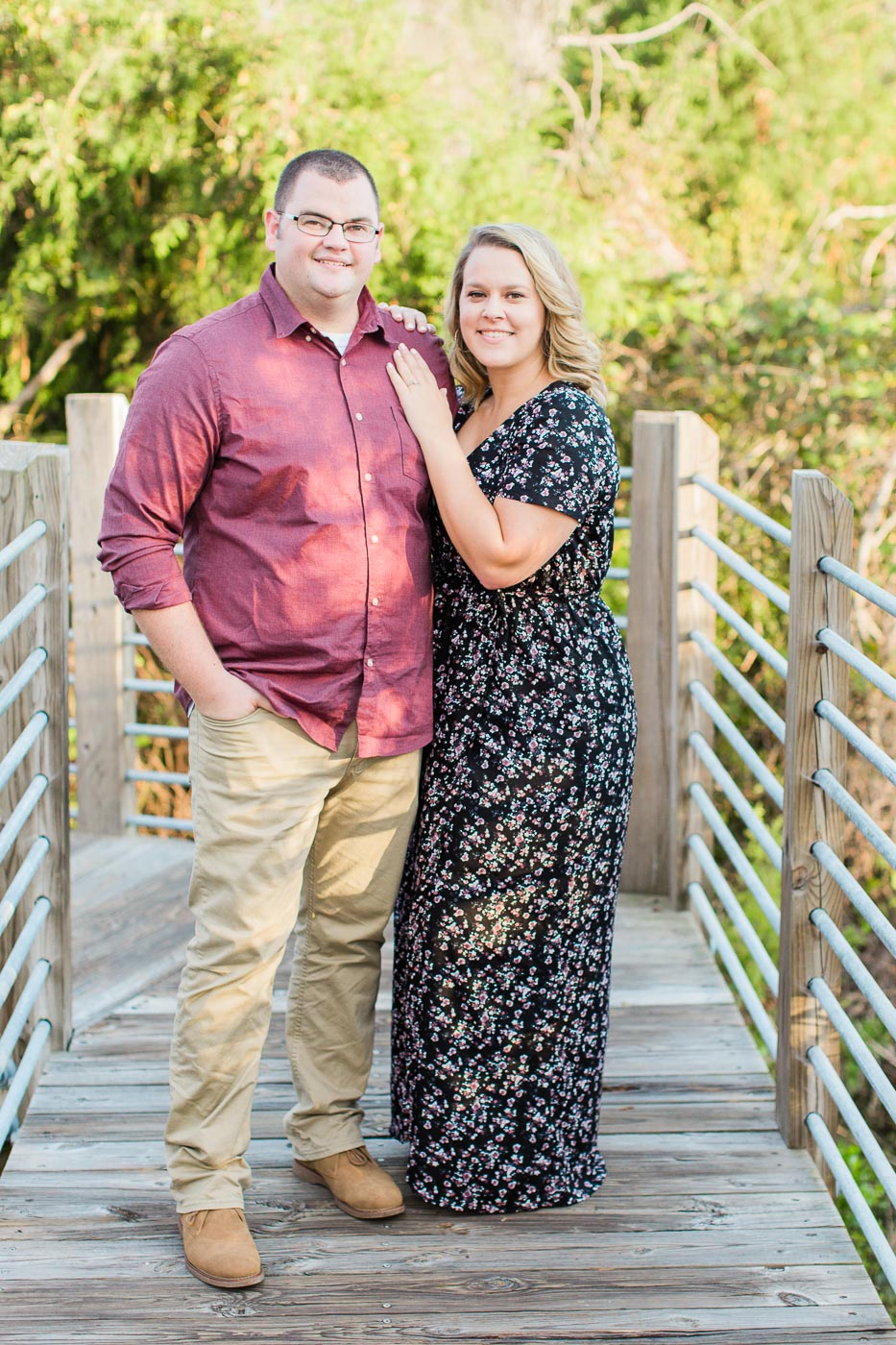 Huntington beach state park engagement session at fall