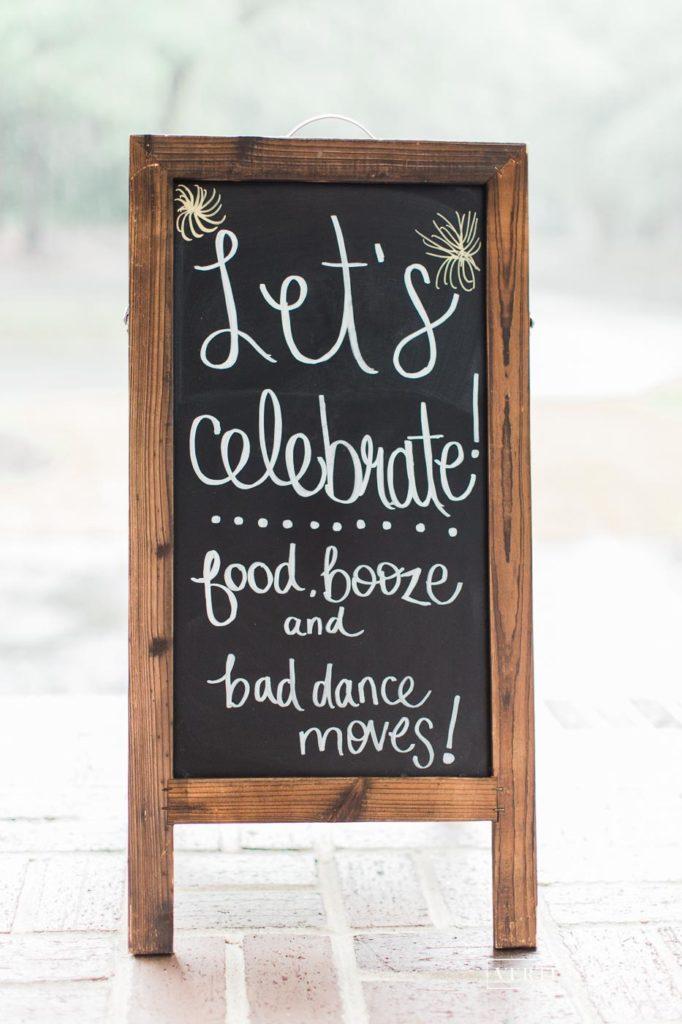 celebration sign