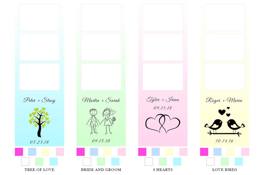 photo booth wedding print templates