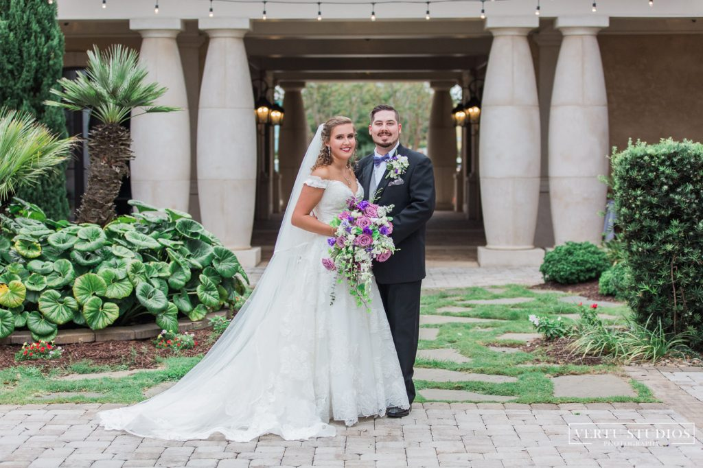 bride and groom at 21 Main Events at North Beach wedding venue